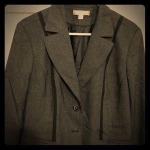 Black plus size suit
